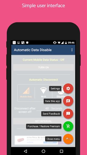 [root] automatic data disable +widget screenshot 2