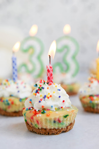 Bite Size Birthday Cheesecakes