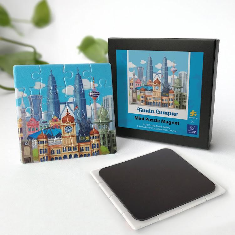 Mini Puzzle Magnet: Kuala Lumpur by Loka Made