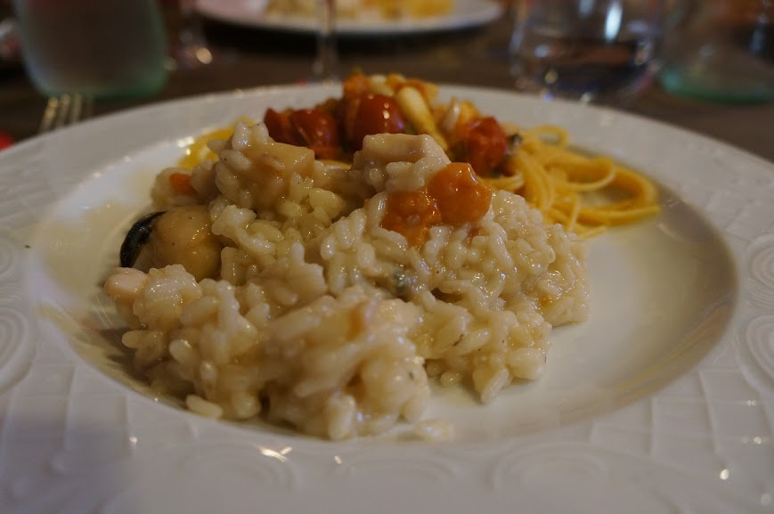 Seafood Risotto and Pasta