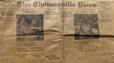 Photo: 1940 May 10th The Thomasville Times in Time Capsule at Canaan http://CanaanUMC.net