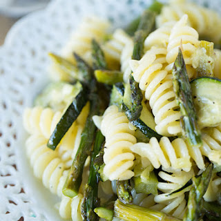 Grilled Asparagus and Zucchini Pasta