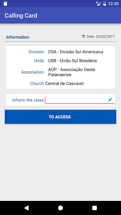 Sabbath School Card- screenshot