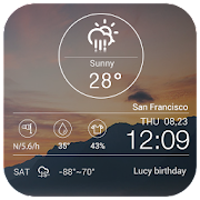 Transparent weather forecast 3.0.1_release Icon