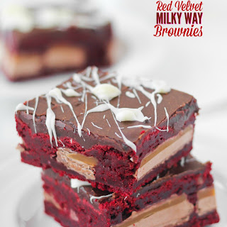 Red Velvet Milky Way Brownies