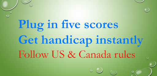 #1 Golf Handicap Tracker! US Canadian Australian rules. Not licensed USGA GHIN.