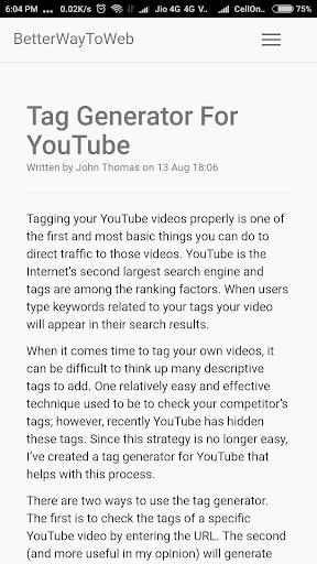 Best Tag Generator For YouTube Creator 1.0 screenshots 1