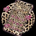 Pink Gold leopard Cheetah Tema icon