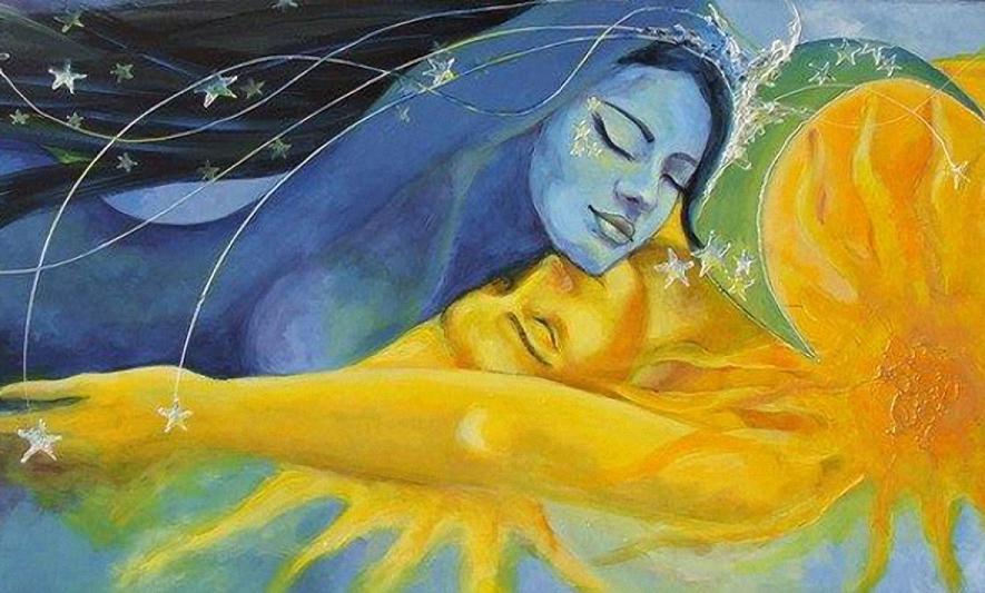 Луна и солнце – символы золота и серебра