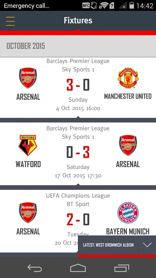 Arsenal- screenshot