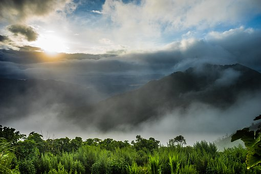 Clouds, Mountain, Nice, Forest, The Hill