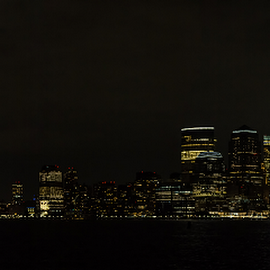 New York by night by Thierry Madère - City,  Street & Park  Night
