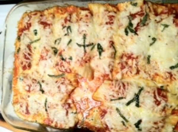 Manicotti With Fonduta Sauce Recipe