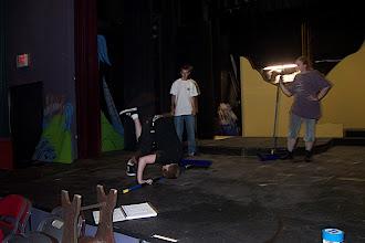 Photo: Robbin doing acrobatics.