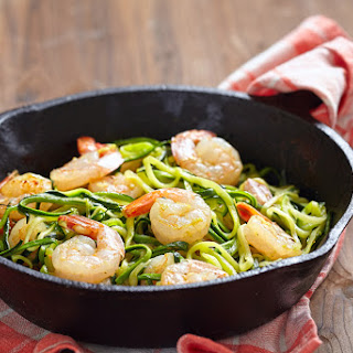 Simple Prawns And Zoodles.