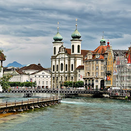 Lucerne by Francis Xavier Camilleri - City,  Street & Park  Vistas