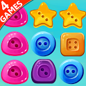 Match Button - 4 games in one icon