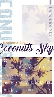 Coconut Keyboard Theme - Delicate,Customizable - náhled