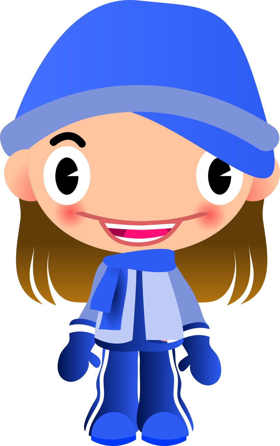 Public Domain Clip Art Image | Talking Girl in Warm Sports Clothes ...