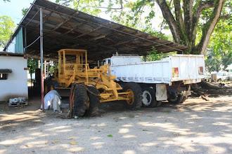 Photo: Grader and dump truck, i felt right at home