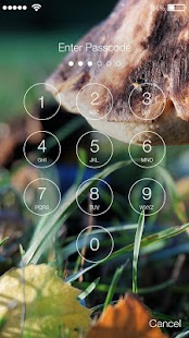 Autumn Mushroom Screen Lock - náhled