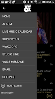 Screenshot of WWOZ