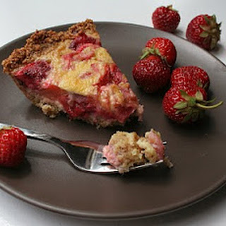Strawberry Rhubarb Custard Pie.