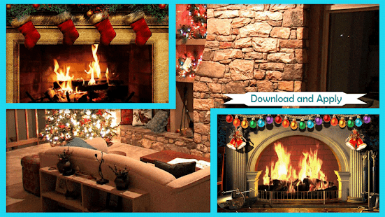 3D Christmas Fireplace HD Wallpaper - náhled
