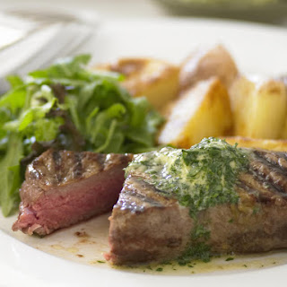 Grilled Steak with Parsley Butter.