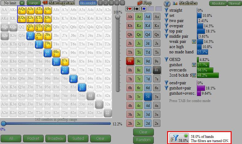 float strategy versus half pot