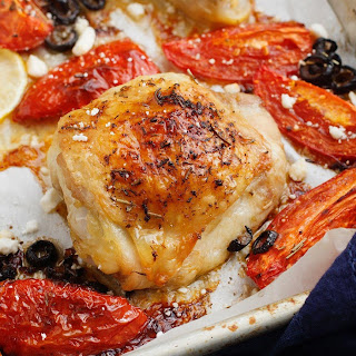 Greek Roasted Chicken & Tomatoes.