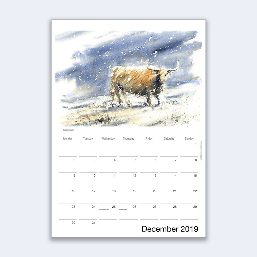 wildlife art calendar
