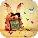 Theme Butterfly Girl icon