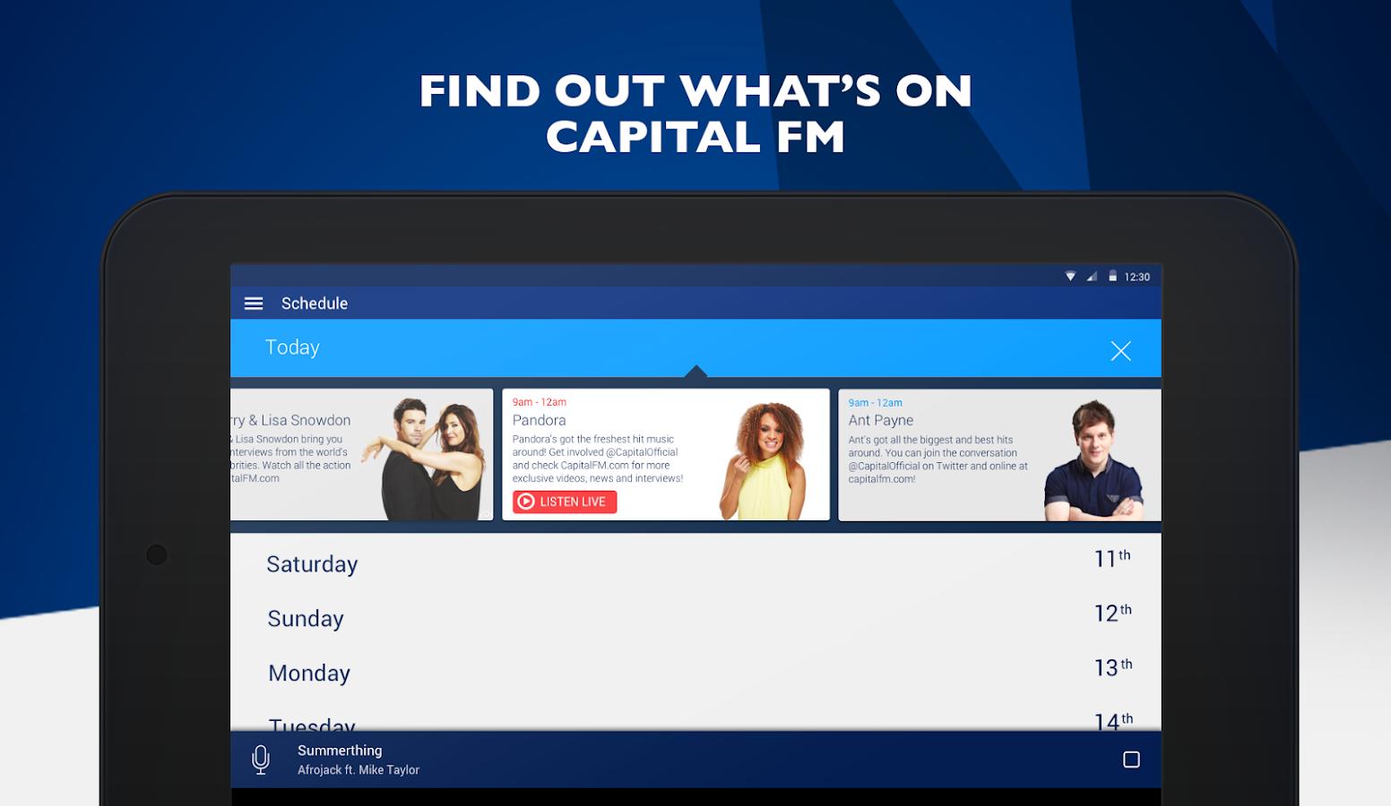 Capital FM Radio App- screenshot
