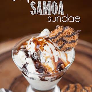 Sinful Samoa Sundae.