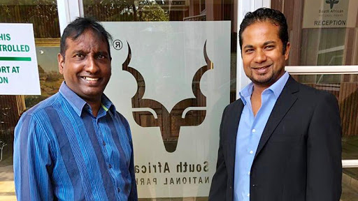 Kamal Pillay, SANParks CIO (left) with Savan Marimuthu, Datacentrix senior account manager.