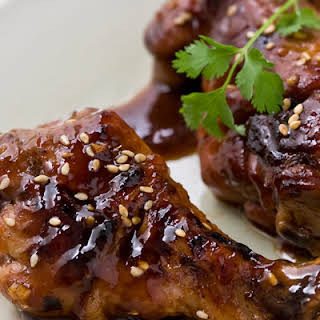 Chicken Drumsticks Marinated with Honey and Soy.