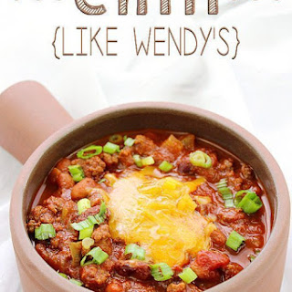 Chili – Like Wendy's.