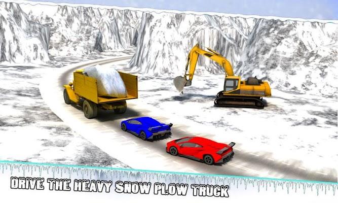 Winter Snow Excavator Crane Op - screenshot