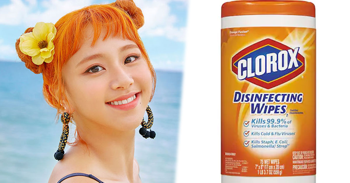 Chaeyoung-As-Clorox-Disinfecting-Wipes