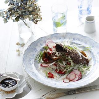 Korean Beef with Cabbage Salad.