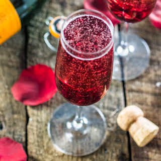 Hibiscus Champagne Cocktail.