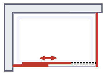 masterclass porte de douche coulissante paroi laterale 100 x 80 cm
