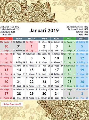 Kalender Jawa 2019 1.1 screenshots 2