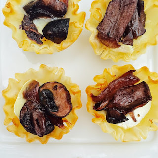 Red wine portobello and Brie bites
