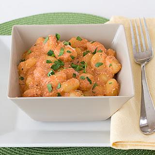 Ricotta Gnocchi with Tomato Sauce.