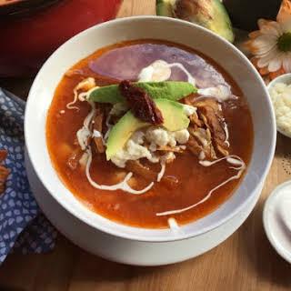 Traditional Caldo Tlalpeno Soup.
