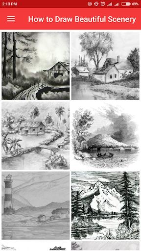 How to Draw Beautiful Scenery screenshots 1
