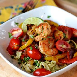 Shrimp Quesadilla Fettucine