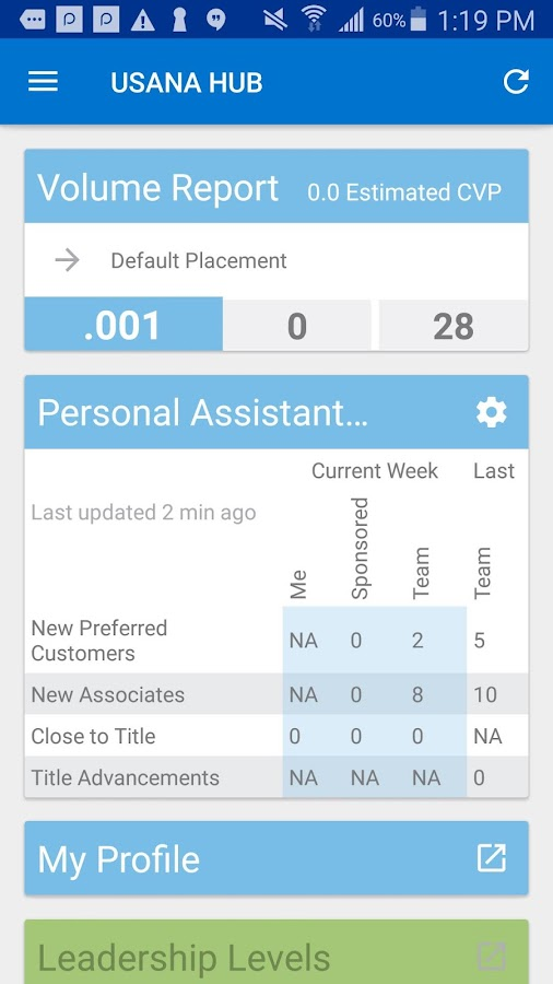 USANA Mobile HUB- screenshot